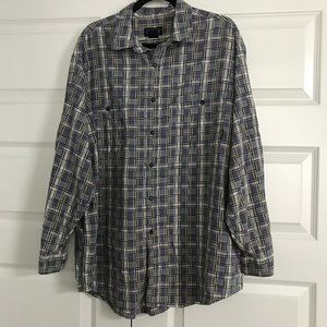 PATAGONIA Long Sleeve Button Front Plaid Shirt XL